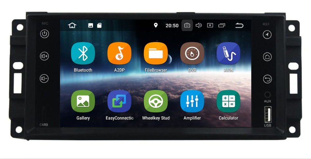 2 din Auto Radio Android 9.0 Car DVD Player For <font><b>Chrysler</b></font> <font><b>300c</b></font> jeep Compass/Dodge/RAM/Grand Cherokee Wrangle GPS Navi Head Unit image
