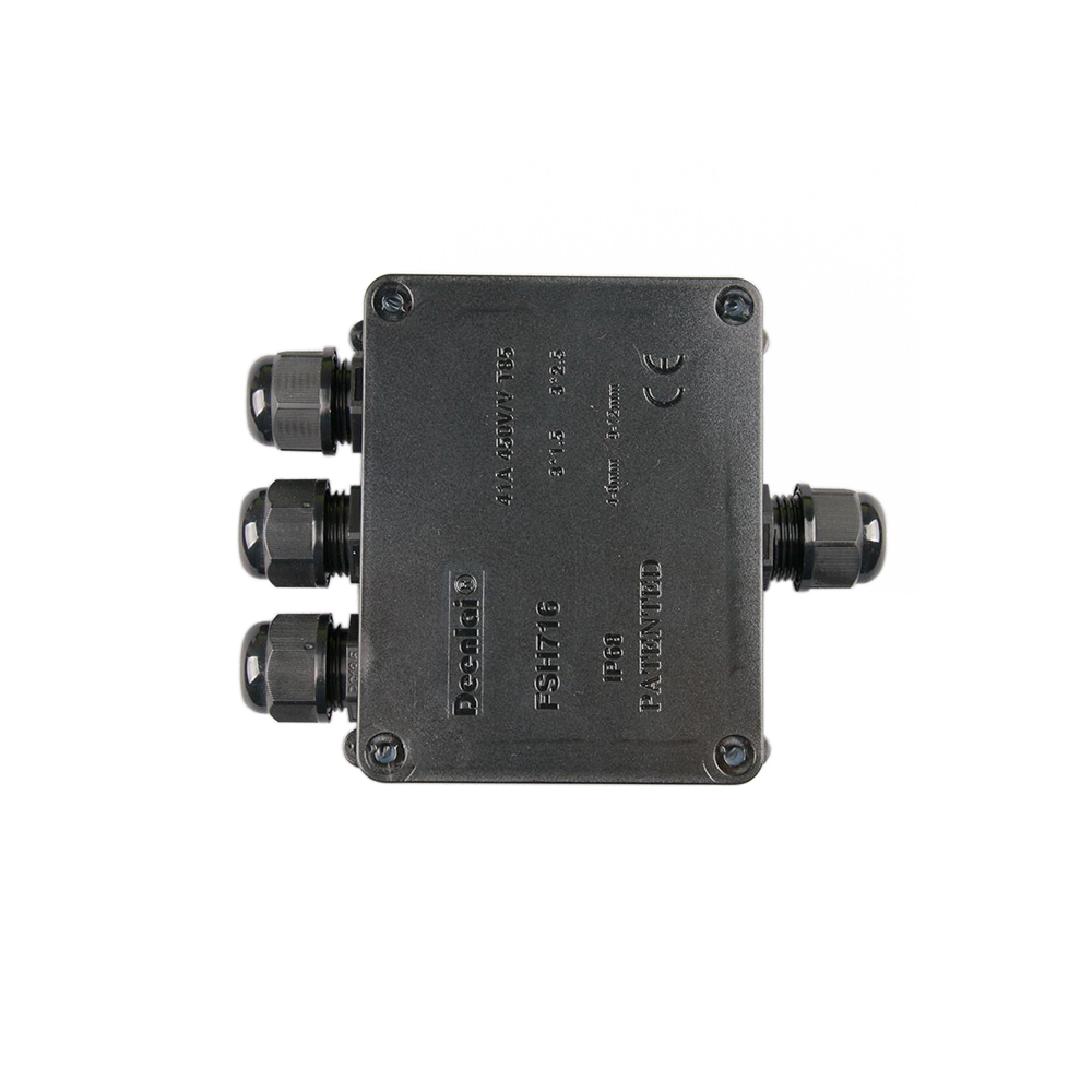 120x95x50mm Black IP68 Waterproof UV Sunproof Outdoor 4 Way Cable Wire Connectors Junction Box 1 in 3 out with Terminal 1 piece free shipping wire drawing black color 45 h x152 w x200 l mm aluminium junction box manufactures in china