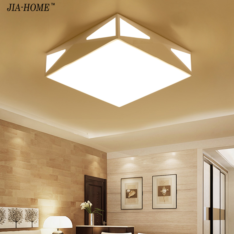 2017 Modern Sample Ceiling Lamp LED Creative Square Bedroom Light Simple Modern Restaurant Lighting Lustre