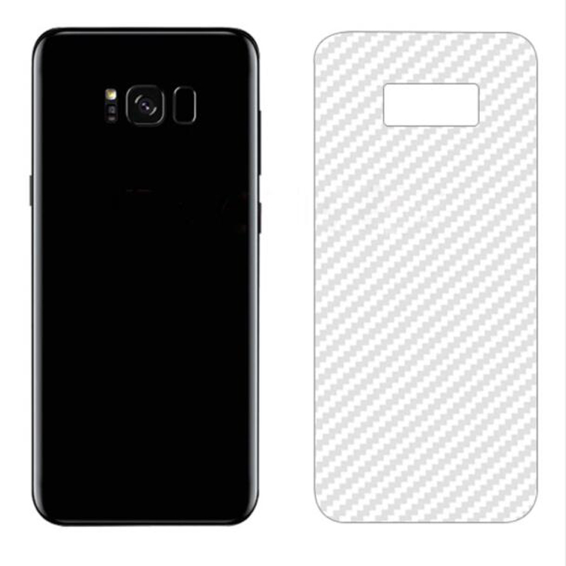 3D Carbon Fiber Screen Protector Film Protective Sticker for Samsung Galaxy S8 Plus Note 8 note8 Back Glass Panel Full Cover