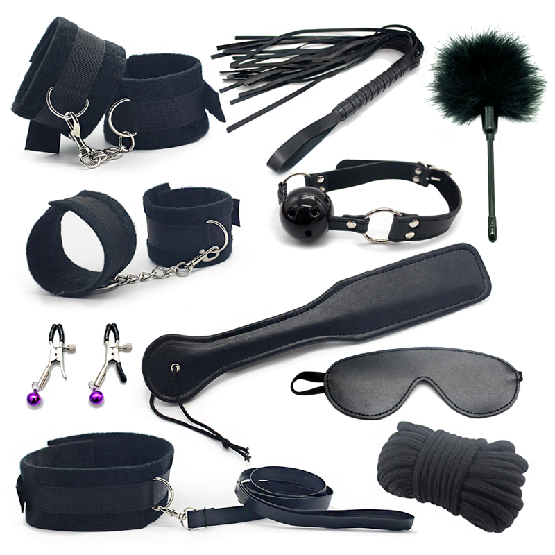Erotic Toy 10pce/ Set sexy toys Adult Games sex Bondage Restraint,Handcuffs..