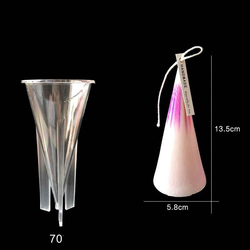 plástico cone molde de vela diy pirâmide