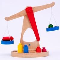 Sicurezza Kid Bambini Math Giocattolo del Regalo Piccola Scala Dell'equilibrio Con 6 Pesi Per I Bambini Matematica Educazione Giocattolo