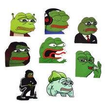 Pvc Stickers 8Pcs/Lot Pepe Sad Frog Funny