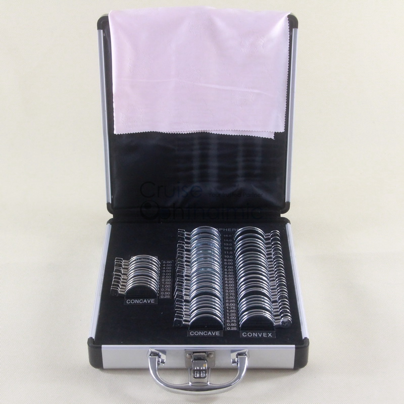 Optometric Trial Lens Set MT68-A1 A1 68 pcs Rim Full Aperture 36mm Shiny Metal Rim | Aluminium Carrying Case pre trial detention