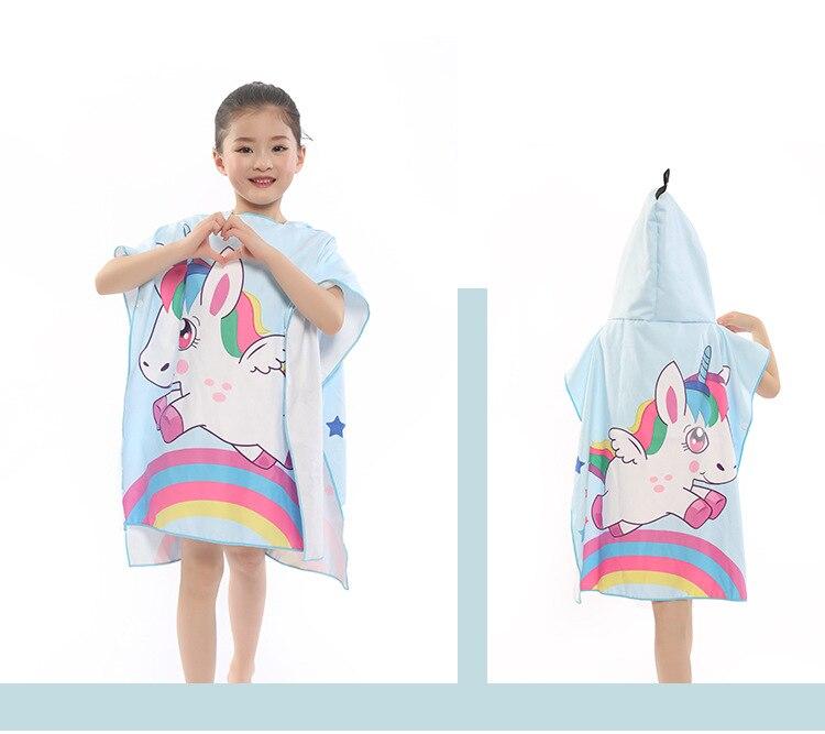 Новое поступление, Лидер продаж, летнее портативное пляжное банное полотенце из микрофибры с мультяшным рисунком, купальное полотенце с крышкой, быстросохнущая Мочалка для детей, 83*60 см