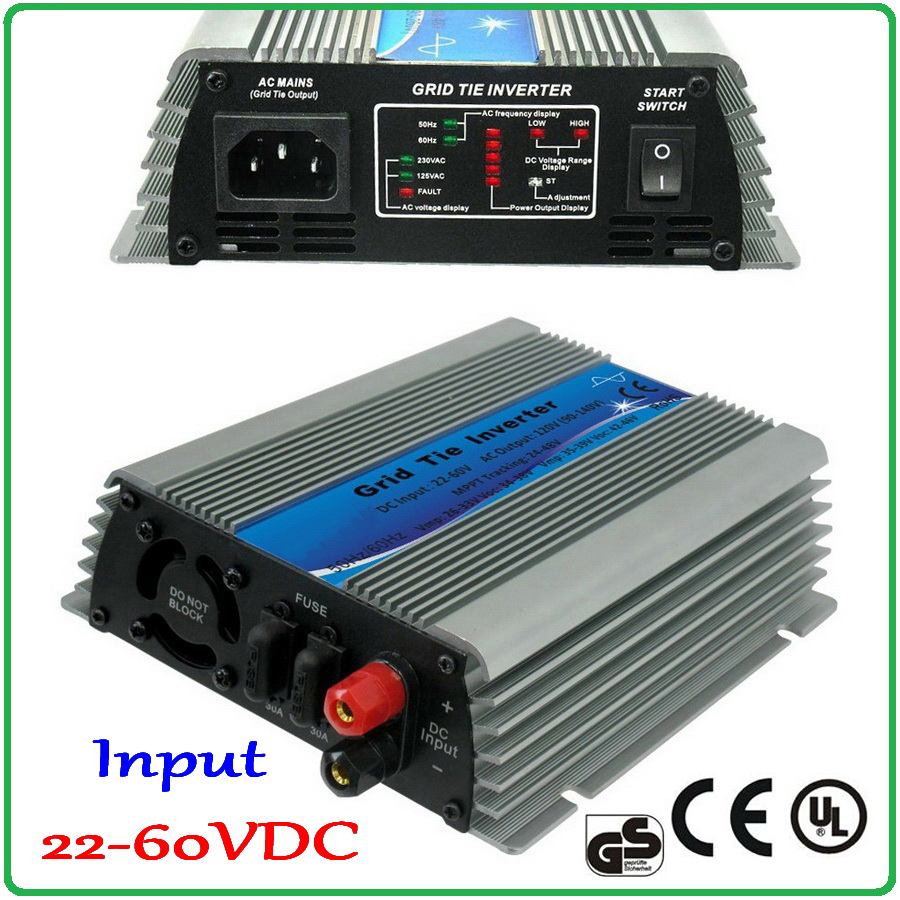600W 300W 400W 200W 500W On Grid Tie Inverter 22 60VDC Input for 24V/30V 60cells and 36V 72cells PV Solar Panel on grid inverter