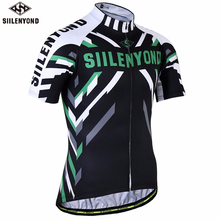 SIILENYOND 2018 Summer Men Cycling Jersey Polyester Breathable Short Sleeve Bicycle Clothing Ropa Ciclismo MTB Bike Wear Shirts