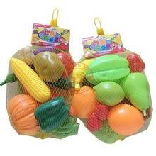 Kindergarten Children Simulation House Plastic Toys Fruits Vegetables Balsam Pear Potato Pumpkin Apple Corn Model