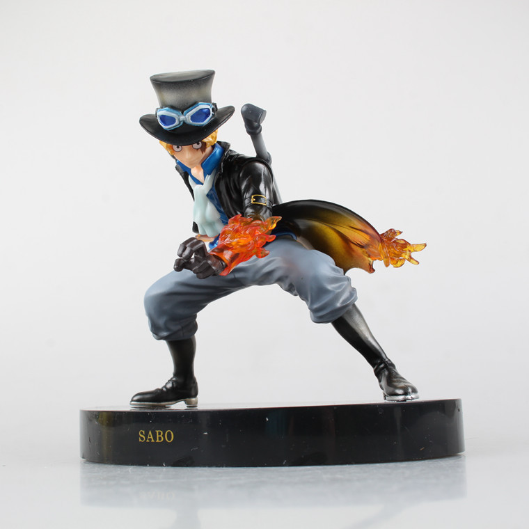 new hot anime one piece sabot warm blood fight frame model pvc action figures classic collection toy doll anime one piece fire fist ace handsome model garage kit pvc action figure classic collection toy doll