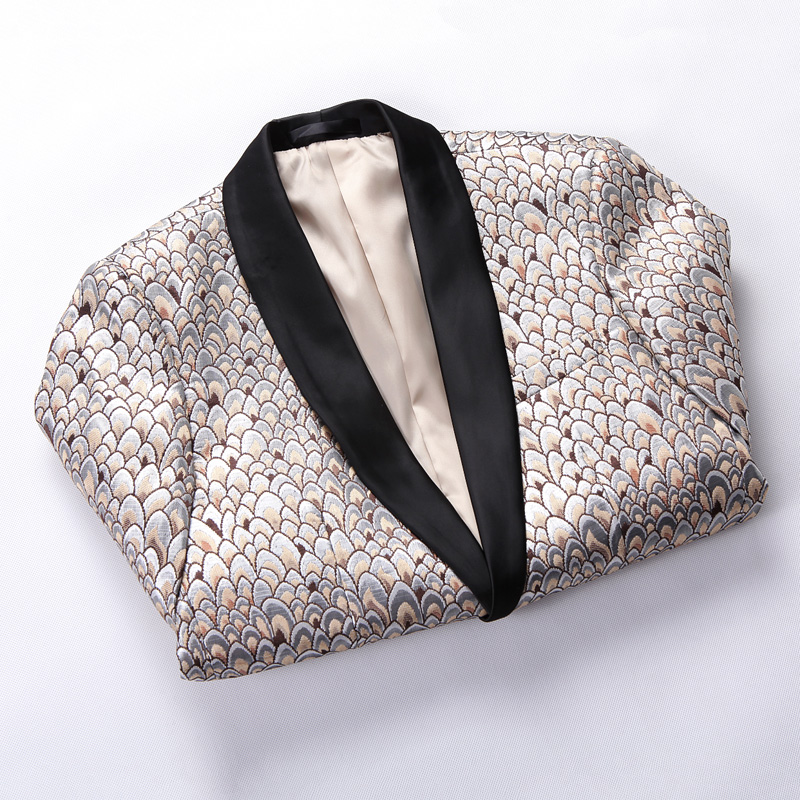 New wedding mens one button suit popular new flower small suit youth trend will be business casual suit S-5XL