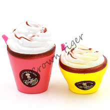 Jumbo Cute Coffee Cup Soft Squishy Slow Rising Cream Scented Fun Kids Toy Funny squeeze Toy For Children Gift Anti-Stress Toy