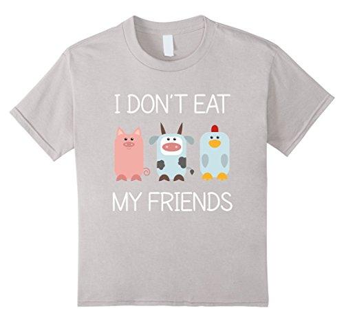 e8528fab7 Eu não Comer Os Meus Amigos Vegan Vegetariano Camiseta
