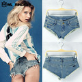 Owlprincess Sexy Nightclub Tide Denim Skinny Shorts Summer Hole Destroyed Lady's Club Dance Low Waisted Jean Mini Short Feminino