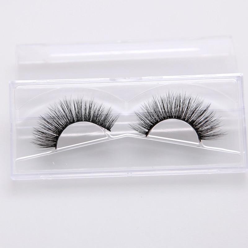 PFOMOTION 3D individual silk lashes 100% Handmade plastic Cotton stalk eyelashes crossing super soft false eyelashes