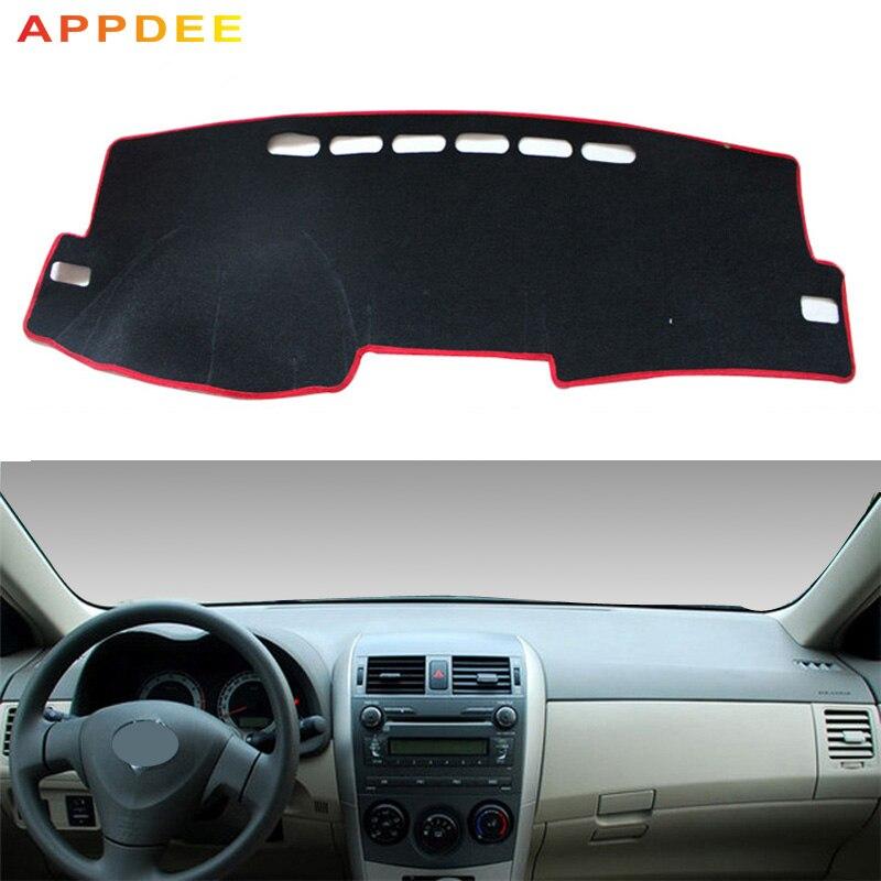 APPDE Dash Mat Dashmat Dashboard Cover Sun Shade Dash Board Cover Carpet For Toyota Corolla E140/E150 2006 2007 2008 2009 - 2013