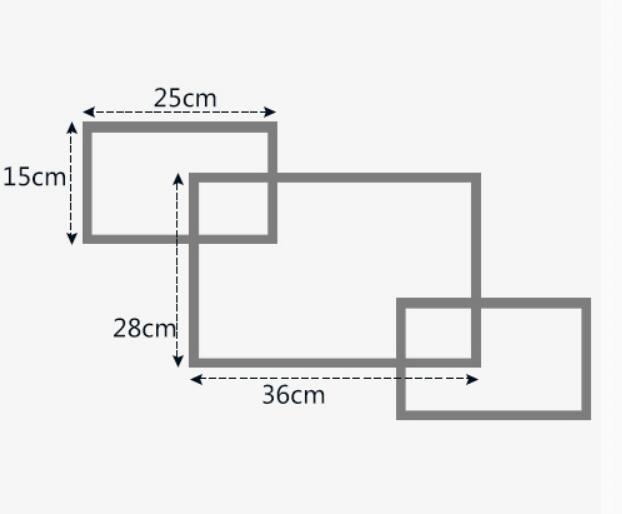 3 unids / lote estante para colgar en la pared de tres piezas - Organización y almacenamiento en la casa - foto 5