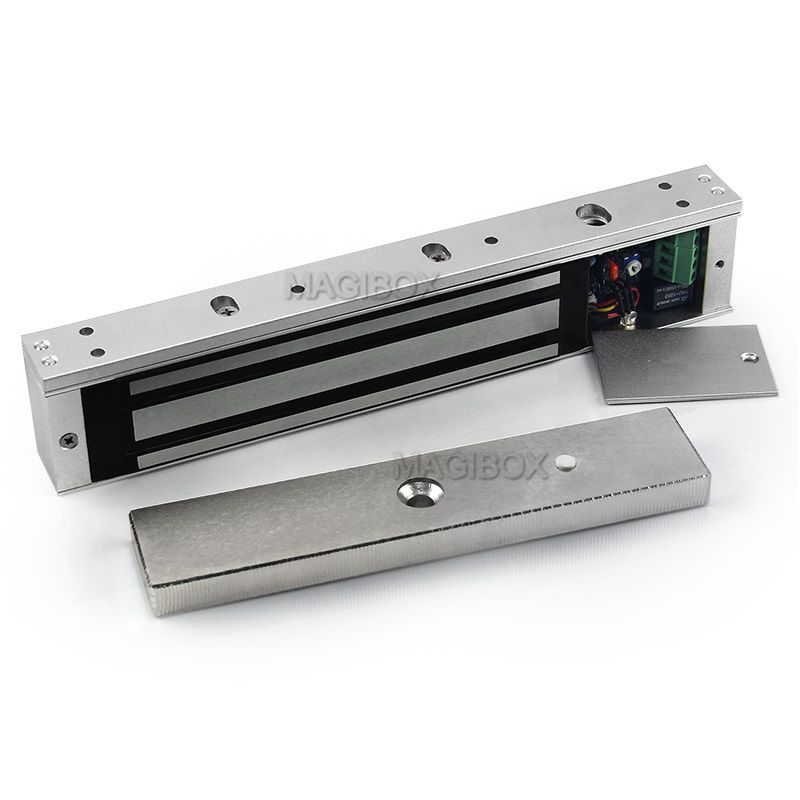 цена на 280KG Magnetic Lock 600lbs Electromagnetic Lock Time Delay Signal Feedback DC12V/24V Adjustable