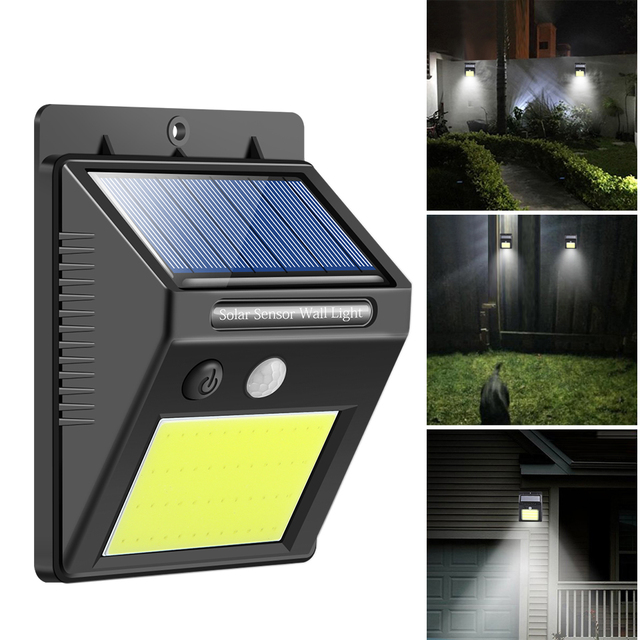 48 LED Waterproof Outdoor Wall LED Solar Night Light PIR Motion Sensor Auto Swith Solar Lamp Porch Street Fence Garden Lighting