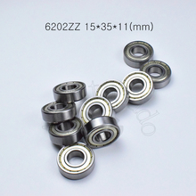 6202ZZ 15*35*11(mm) 10pieces free shipping bearing ABEC 5  10Piece metal sealing bearings 6202 6202Z 6202ZZ chrome steel bearing