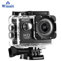 Winait HD720p waterproof digital action camera, mini sports video camera free shipping
