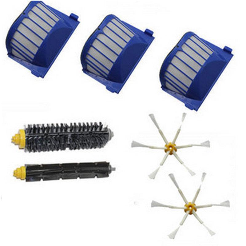 filter side brush 6 armed kit for irobot roomba 600 series 620 625 630 650 660 - Irobot Roomba 650