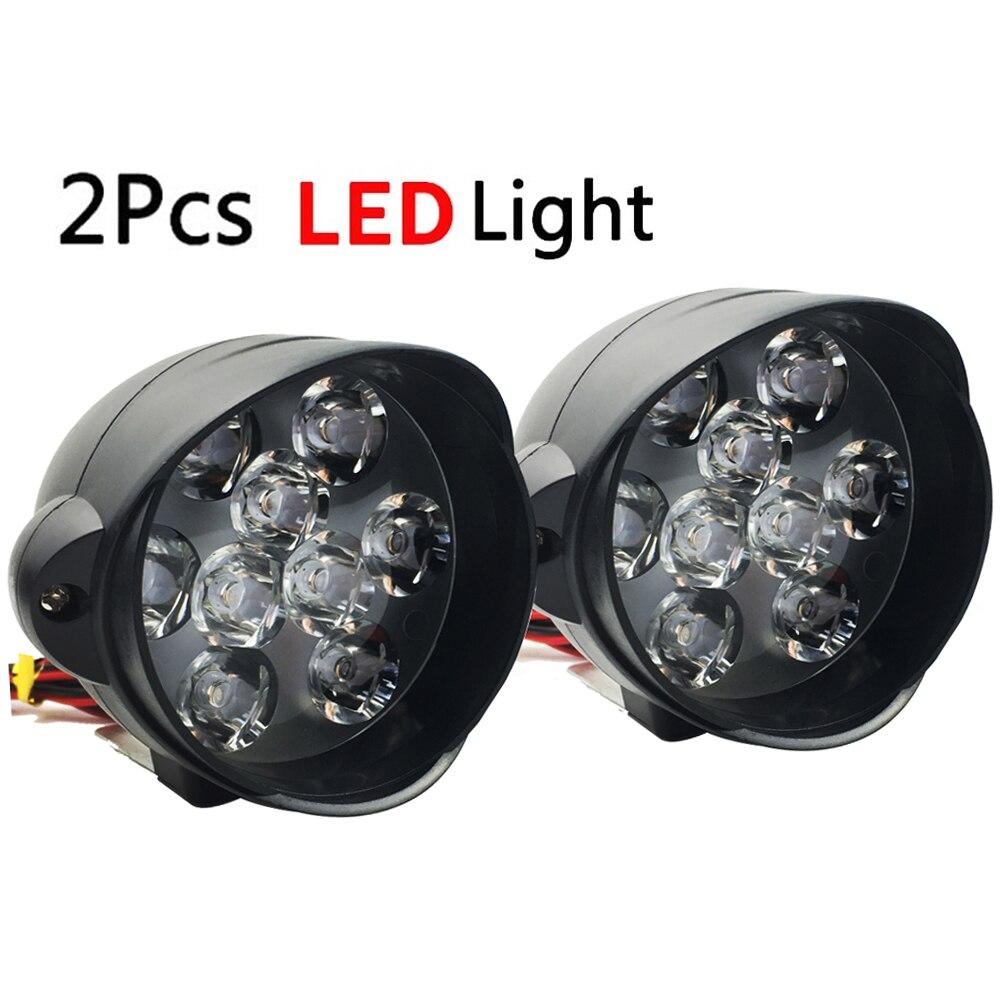 2 Pcs Motorcycle Headlight LED Head font b Lamp b font High Bright White Light 12V