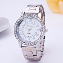 New Hot Fashionable handsome wise amazing wonderful Hot Women's Crystal Bracelet Stainless Steel Analog Quartz Wrist Watch //