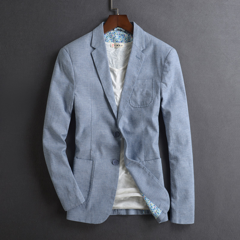 1c581fcea6 Spring And Autumn Men's Wear New Style Breathable Thin Cotton Linen Tide  Slim Mens Single West. US $51.04. SIMWOOD 2018 New Autumn Casual Blazers ...