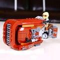 LEWEIHUAN 206 Unids Ladrillos de Juguete de Star Wars The Force Despertar del Rey Speeder Montado Bloques de Construcción de Juguete del cabrito compatible con Legoe