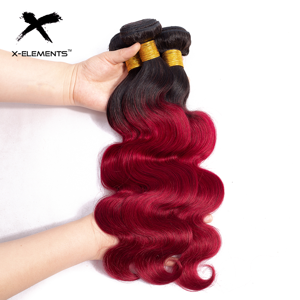Hair Extensions & Wigs Qualified Ombre Brazilian Hair Weave Bundles 99j Burgundy Straight Human Hair Bundles Non Remy Human Hair Extensions Pinshair Red Bundles Durable In Use