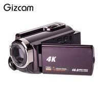 Небольшой видео Камера Цифровая видеокамера емкостный сенсорный Дисплей коричневый HD DVR Свадебные запись фотографии