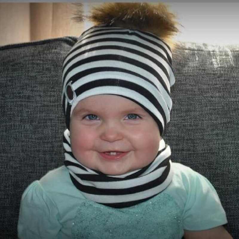 เด็กหมวกF Aux R Accoonขนเด็กทารกหมวกเทียมผมเด็กสาวหมวกฤดูหนาวP Ompom B Obbleเด็กหมวกลายเด็กหมวก