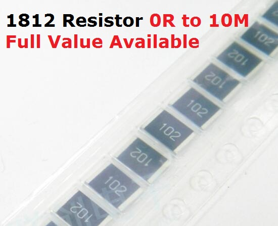 50 шт./лот SMD чип резистор 1812 68R/75R/82R/91R/100R 5% Сопротивление 68/75/82/91/100/Ом резисторы K Бесплатная доставка
