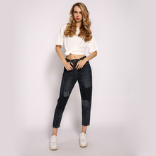 ME&SKI  New Young Girls Pants High Waist Jeans Elastic Pencil Skinny Woman