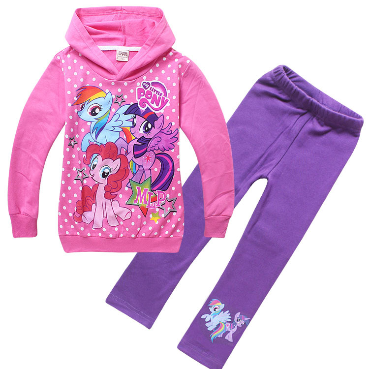 e45eb3603 Little Pony Girls Clothing Sets Baby Kids Sport Suit Children Hoodie Jacket  Pants Trousers Tracksuits Sweatshirts Clothes-in Clothing Sets from Mother  ...