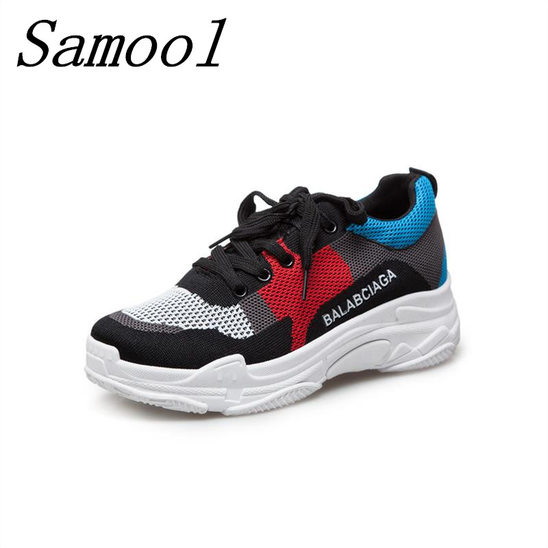 Hot Sale Fashion Femme Mesh Sneakers Zapato Women Breathable Zapatillas Shoes Women Network Soft Casual Shoes Wild Flats jx3