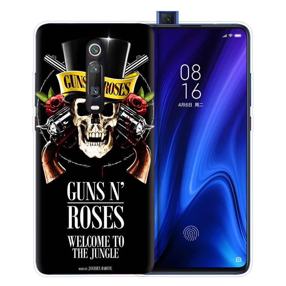 Guns N Roses Caso per Caso Xiaomi Redmi Nota 8 8T 9S 7 9 Pro 7A K30 Zoom MI 10 5G CC9 9T 9T A3 Poco X2 F2 Sacchetto Del Telefono Della Copertura Del Silicone