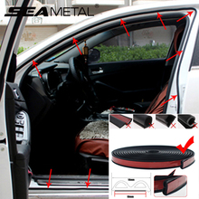 Car Styling Car Door Seal Strip B Shape Weatherstrip Rubber Cars Sealing Strip Sound Insulation Sealing Sticker Auto Accessories