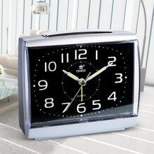 цена на POWER Brand Luminous Silent Alarm Clock Quartz Snooze Function Original Movement Alarm Clocks With Backlight Night Light Beep