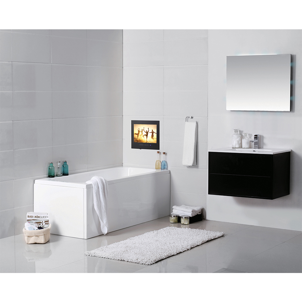 """Souria 15 6 Black Bathroom Waterproof LED Android 9 0 Smart Wi Fi Shower Hidden TV Souria 15.6"""" Black Bathroom Waterproof LED Android 9.0 Smart Wi-Fi Shower Hidden TV Monitor Hotel Television"""