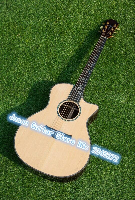 Китайская Фабрика новейшие акустические классический акустической гитары, ААА Массив ели выше, реальная ушка эбони Акустическая гитара,