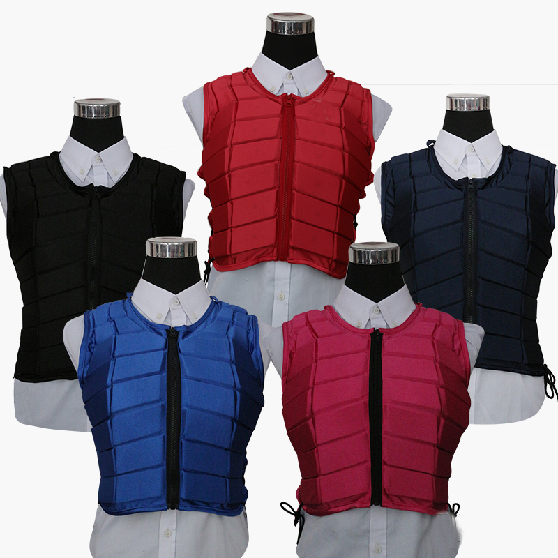 Adjustable EVA Horse Riding Equipment Waistcoat Safe Equestrian Body Protection Vest Unisex Riding Armor Protector Vest 5 Colors
