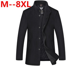 10XL 8XL 6XL 5XL Men's Wool Jackets Spring Autumn Brand Men Woolen Coats Middle Long Jackets And Coats Mens Warm Wool Overcoat