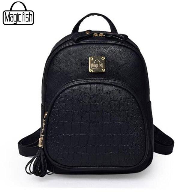f31c54efb1d1 US $13.74 46% OFF|Aliexpress.com : Buy Korean Backpacks Fashion Small  Shoulder Bag Crocodile Pattern PU Leather Backpack Embossed School Bags  Backpack ...