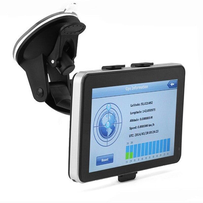 7 Inch 128M+4G Bluetooth AV-IN Car GPS Navigation Capactive Screen FM Navigator Rear View Camera Free Map стоимость