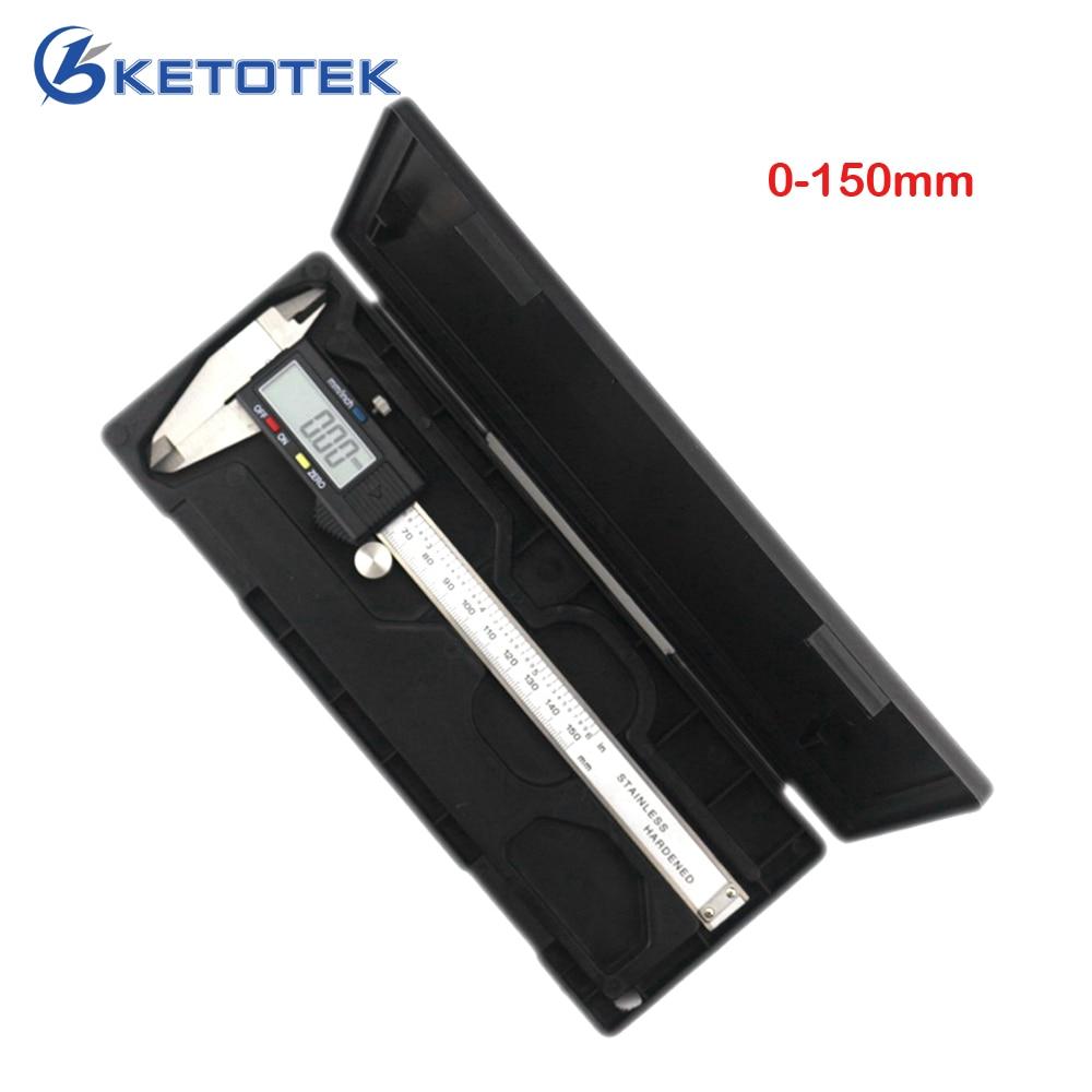 Alta calidad 0-150mm herramienta de medición de acero inoxidable pinza Digital Vernier calibrador micrómetro Paquimetro Messschieber