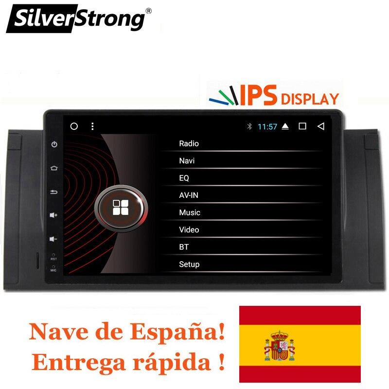 SilverStrong Android9inch GPS naviguer autoradio lecteur DVD pour BMW E53 X5 E39 M5 avec Bluetooth RDS Canbus