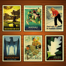 Germany Travel Posters Deutschland das Land der Musik Classic Wall Stic