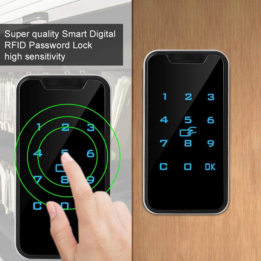 953M1 Smart Drawers Battery Powered Electronic Security Password Lock Digital Touch Keypad Cabinet Universal Zinc Alloy Durable